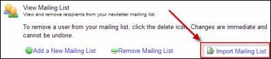 View Mailing List